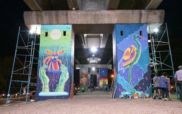 """Tassano, en el Paseo Iberá: """"A través del arte, recuperamos un espacio más para los vecinos y los turista"""
