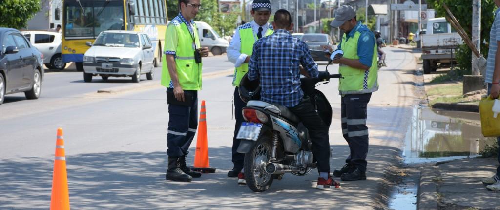 La Municipalidad intensificacontroles de tránsito en distintos puntos de la ciudad