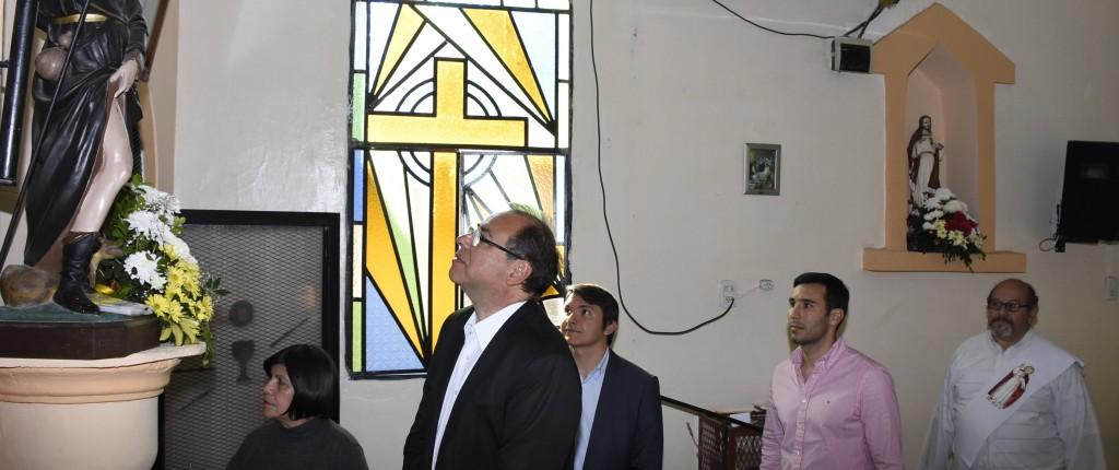 El Intendente, en los festejos patronales en el barrio San Roque
