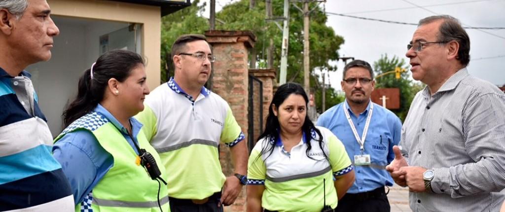 Tassano visitó a inspectora de tránsito que salvó la vida a un bebé